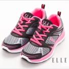 ELLE active時尚俏麗異材質混搭運動休閒鞋黑