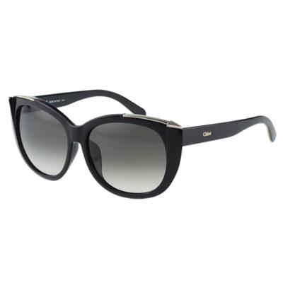 CHLOE太陽眼鏡 小貓眼 箭頭造型(黑色)