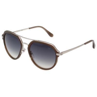 Dunhill 太陽眼鏡 (咖啡+銀色)SDH056