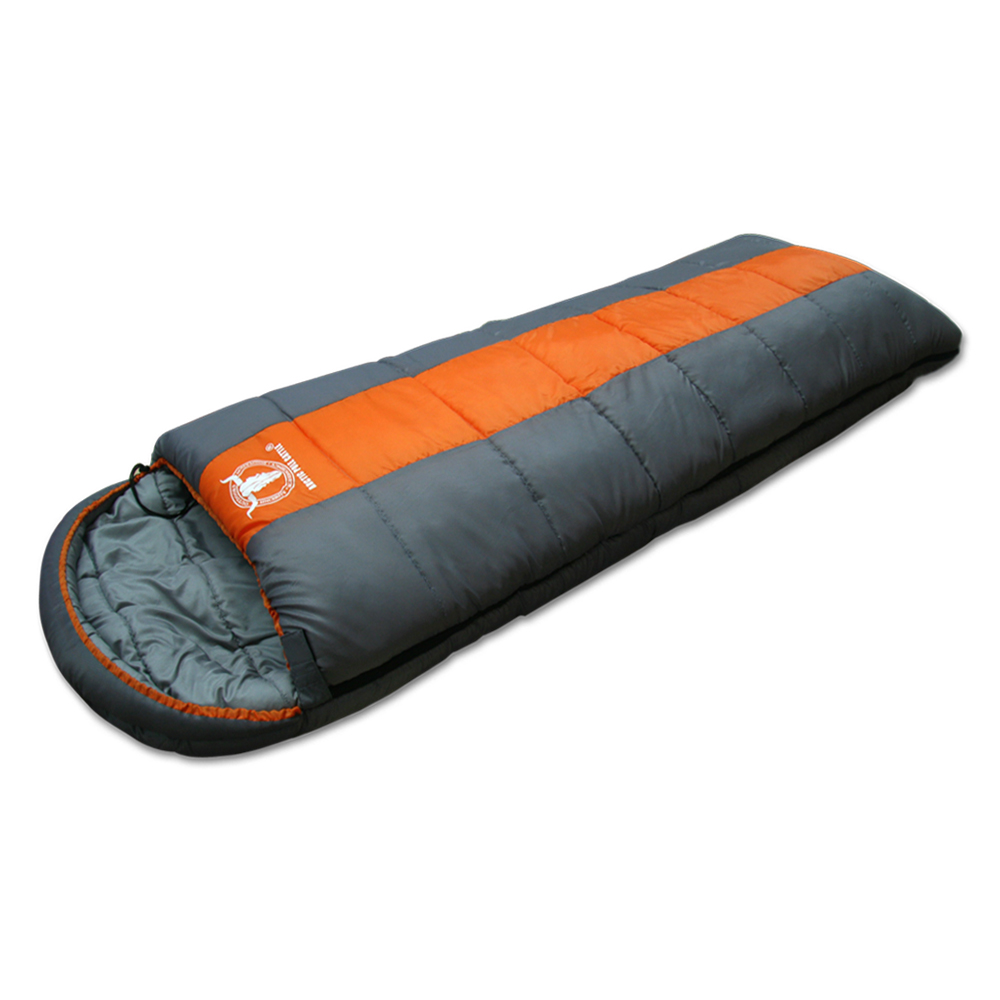 APC秋冬可拼接全開式睡袋-雙層七孔棉-桔灰色