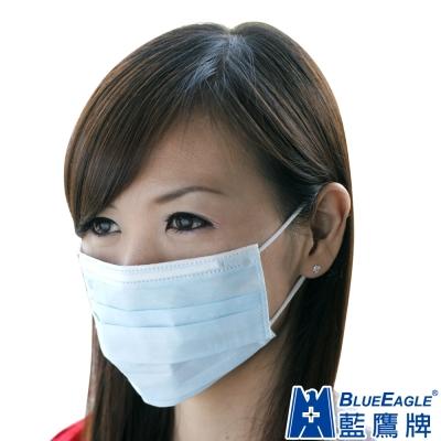 藍鷹牌 台灣製 成人平面防塵口罩 50入x5盒(藍/綠/粉三色可選)