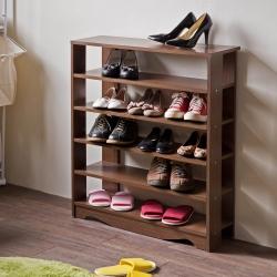 TZUMii 加藤開放式五層鞋櫃-75* 23.8*87.9cm