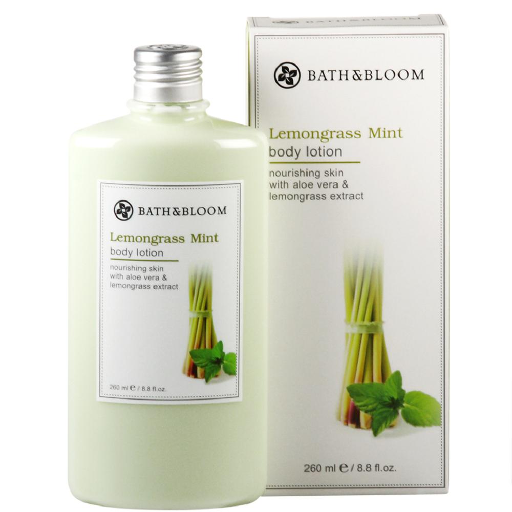 *Bath & Bloom 檸檬草薄荷甦醒身體乳260ml附壓頭