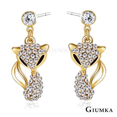 GIUMKA 華麗狐狸 耳環-金色