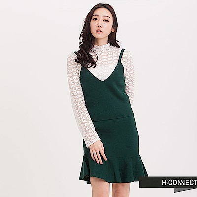 H:CONNECT 韓國品牌 女裝 - 細肩魚尾針織套裝 - 綠