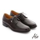 A.S.O 勁步雙核心 全真皮綁帶奈米紳士鞋 咖啡色