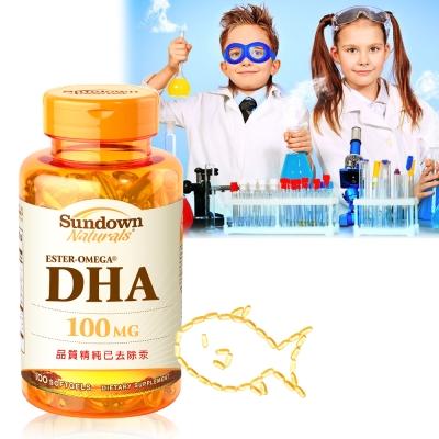 (即期品)Sundown日落恩賜 兒童精明魚油含DHA軟膠囊(孕婦可食)(100粒/瓶)