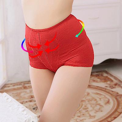 塑身褲 3S美體機能提臀束腹三角束褲 M-Q (晶鑽紅)ThreeShape