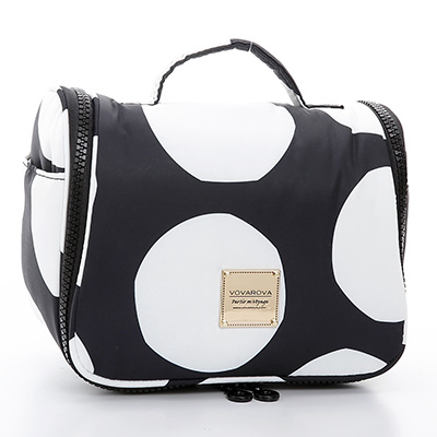 VOVAROVA空氣包-旅行盥洗包plus-波卡圓點(黑)