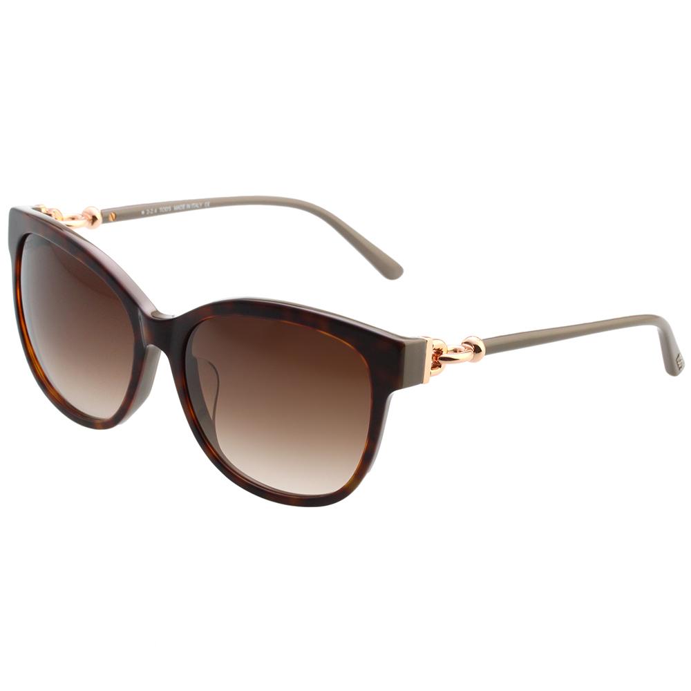 TOD'S 釦環款 小貓眼 太陽眼鏡 (琥珀色)TO153F