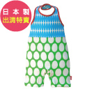 BIBPA 日本 露背式連身包屁衣 (橢藍+綠)-純棉日本製