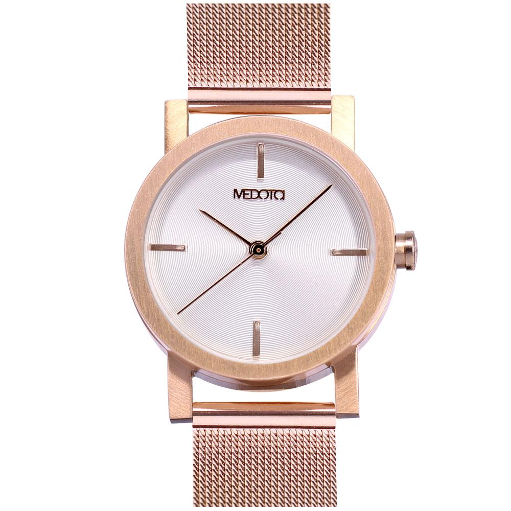 MEDOTA 極簡輕薄手錶- 低調系列 – 女錶 玫瑰金色/30mm