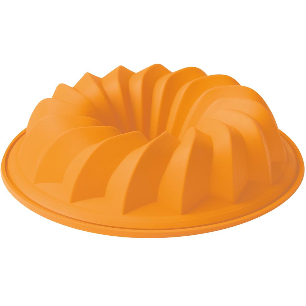 EXCELSA Sweet矽膠薩瓦蘭蛋糕模(橘24cm)