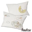 Foufou 抱枕套-風和日麗&HaveANiceDream 白色(雙人枕套)