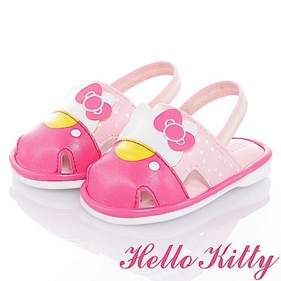 HelloKitty Die-Cut系列 吸震嗶嗶學步涼鞋-桃