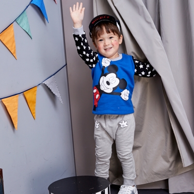 Disney baby 米奇系列HELLO哈倫束口褲 (共2色)
