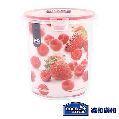 樂扣樂扣P&Q系列色彩繽紛PP保鮮盒-圓形2.2L(草莓紅)(快)