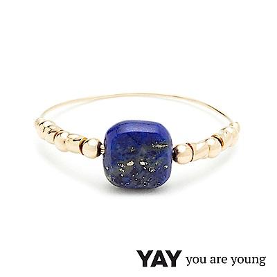 YAY You Are Young 法國品牌 Cleo 青金石戒指 經典款 金色