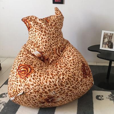 椅的世界 喵喵造型 懶骨頭 豹紋花