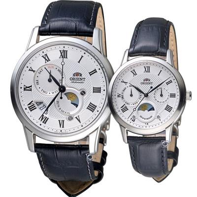 ORIENT 東方錶 情繫永恆時尚對錶(SAK00002S-RA-KA0006S)白
