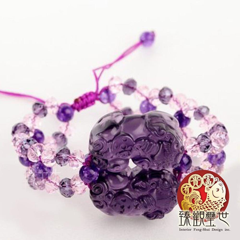 閃爍紫琉璃貔貅手鏈/手鍊