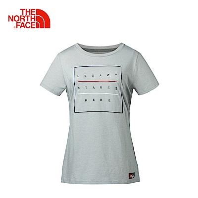 The North Face北面女款灰色戶外休閒短袖T恤