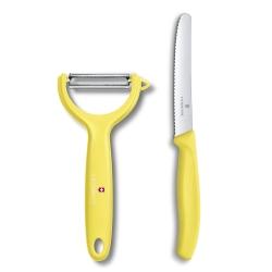 VICTORINOX瑞士維氏 蔬果刀+Y型削皮刀-黃
