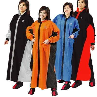 JUMP 將門 新帥配色內裡前開一件式連身風雨衣(5XL- 加大尺寸)