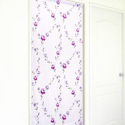 布安於室-花桂冠遮光長門簾-紫色