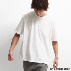 簡約寬版口袋Tee ZIP日本男裝
