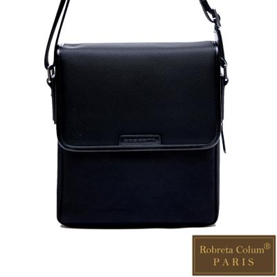 Roberta Colum - 現代雅痞休閒配真皮掀蓋機能側背包-共<b>2</b>色