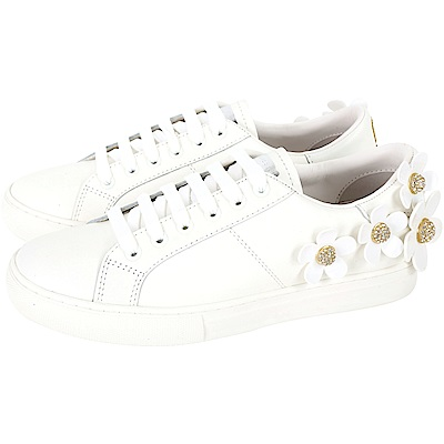 MARC JACOBS Daisy 經典立體雛菊裝飾繫帶休閒鞋(白色)