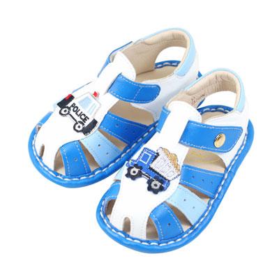Swan天鵝童鞋-可愛不對稱汽車寶寶涼鞋1540-藍