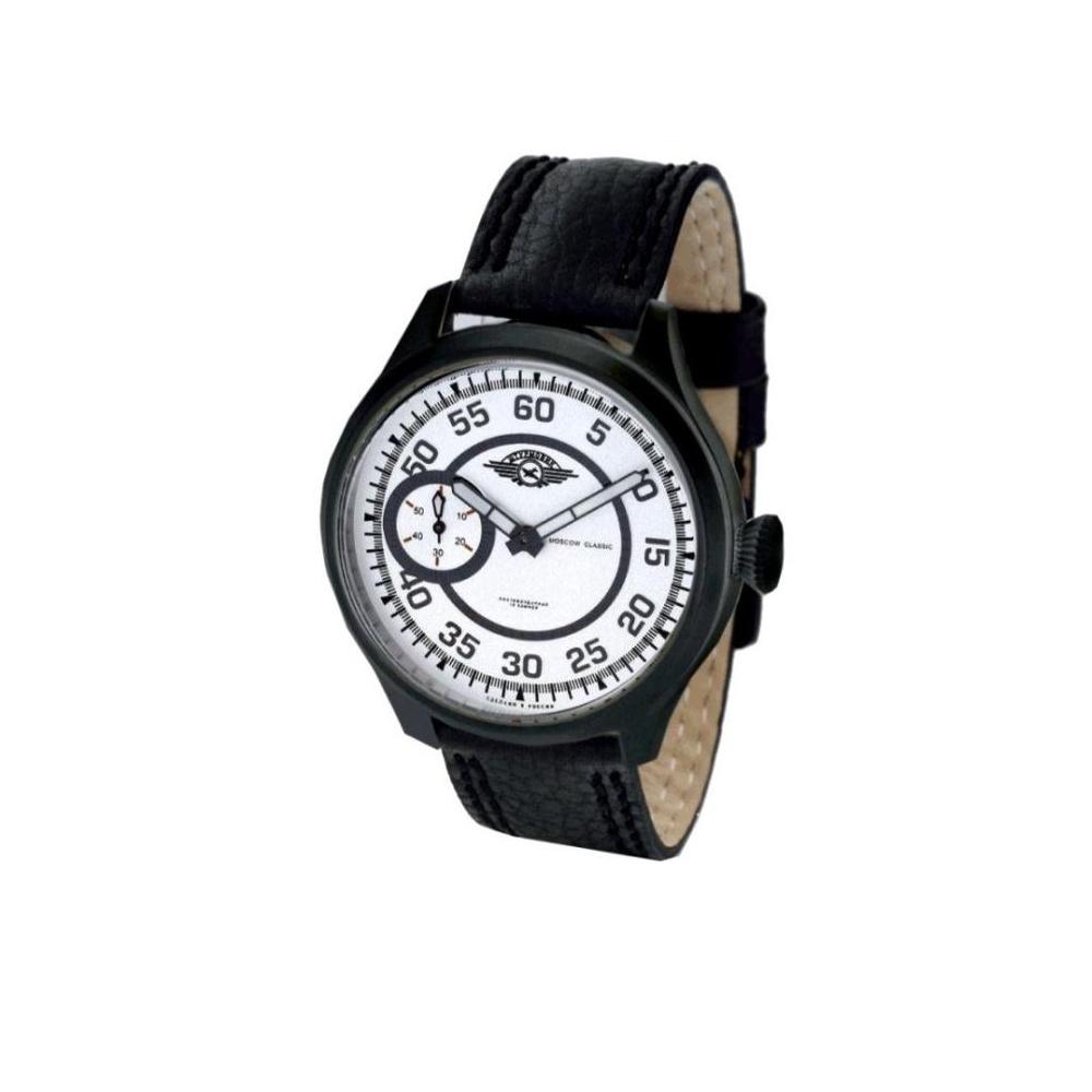 MOSCOW CLASSIC 俄羅斯極光飛航機械腕錶-白/45mm