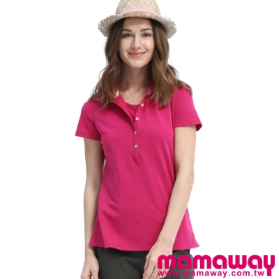 Mamaway-基本POLO孕婦裝-哺乳衣-共三色