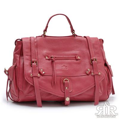 【2R】KMoss凱摩斯牛皮限量包(甜莓紅)