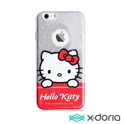 X-doria-iPhone6/6s 4.7吋手機保護軟殼炫銀凱蒂系列-童悅凱蒂