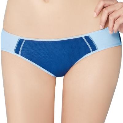 思薇爾 K.K Fit系列M-XXL中低腰素面三角褲(星彩藍)