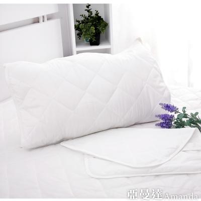 亞曼達Amanda 超強防水枕頭保潔墊 枕墊(2入)
