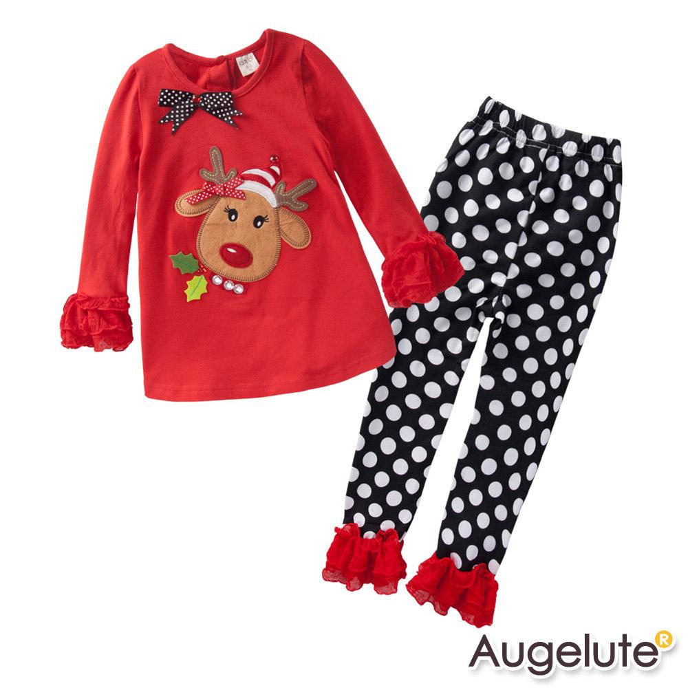 baby童衣 聖誕麋鹿布繡蕾絲袖口 套裝 47070