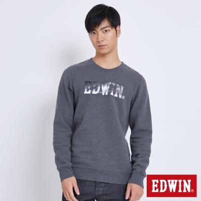 EDWIN 太空競賽太空銀河LOGO長袖T恤-男-黑灰