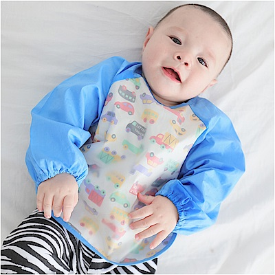 baby童衣 卡通圖案 寶寶防水圍兜反穿衣 61158(多色任選)
