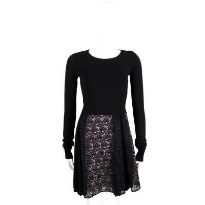 PINKO 黑色蕾絲織花兩件式洋裝