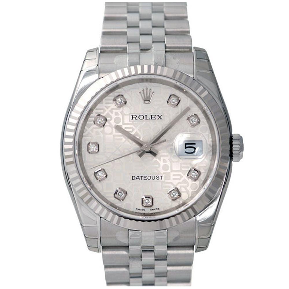 ROLEX 勞力士 Datejust 116234 蠔式恆動日誌型鑽錶-銀紀念面/36mm