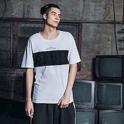 DADA SUPREME 鋼板壓印Logo上衣-男-白
