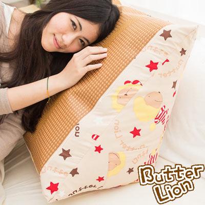 【奶油獅】正版授權-搖滾星星紙纖舒涼三角靠墊-米色(一入)