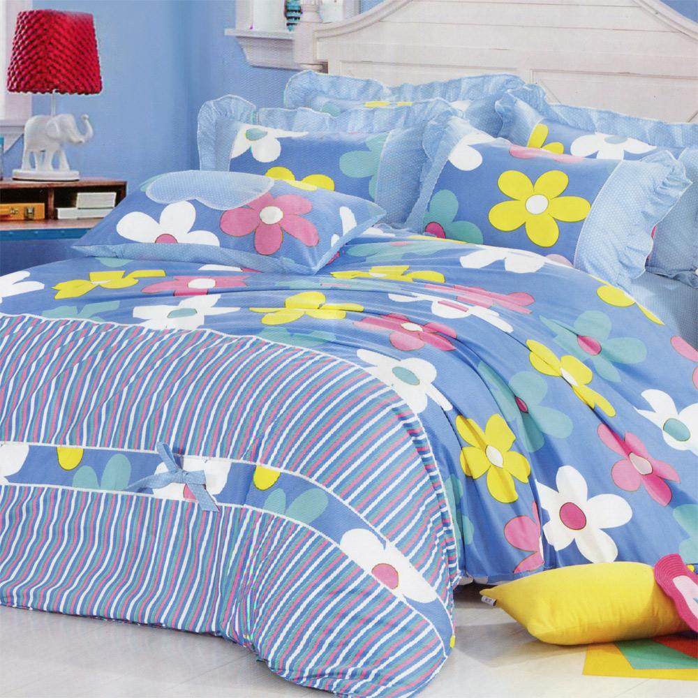 浪漫花季 加大兩用被床包1+1超值組