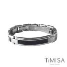TiMISA 純粹品味-黑 純鈦鍺手鍊