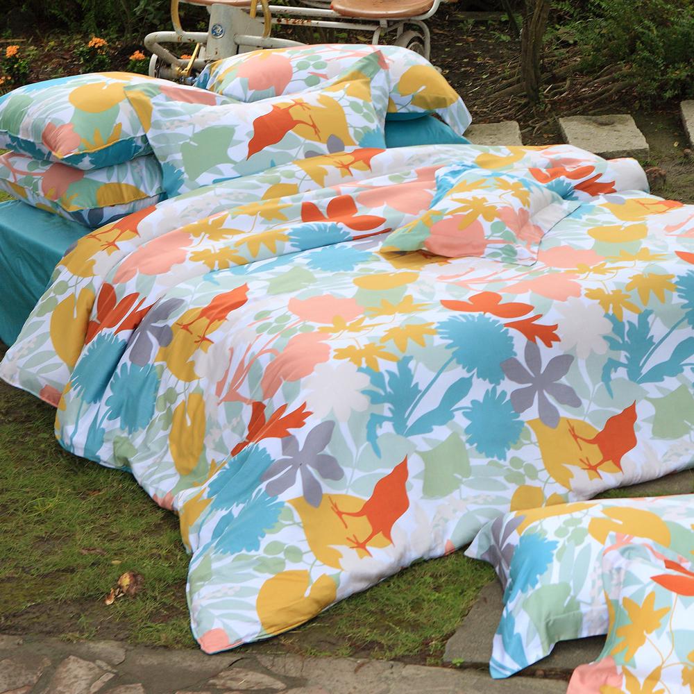 義大利La Belle《都會叢林》加大四件式貢緞兩用被床包組