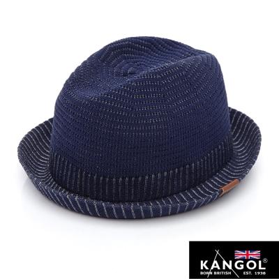 KANGOL-英國袋鼠-經典系列-立體編織輕量紳士帽-深藍色